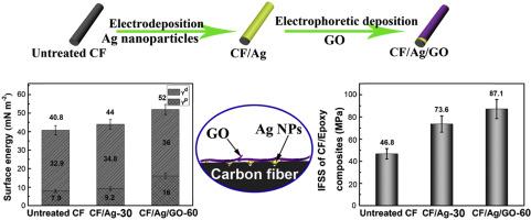 Silver nanoparticles/graphene oxide decorated carbon fiber