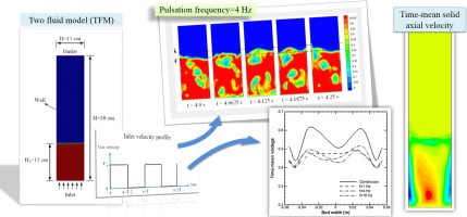 Investigating effect of pulsed flow on hydrodynamics of gas