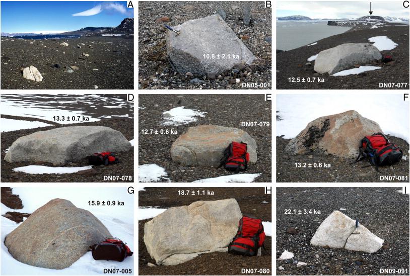 exposure dating of boulders
