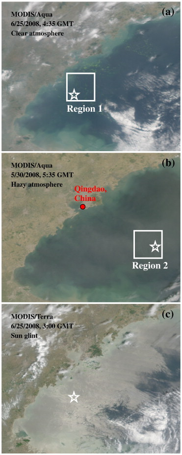 A novel ocean color index to detect floating algae in the
