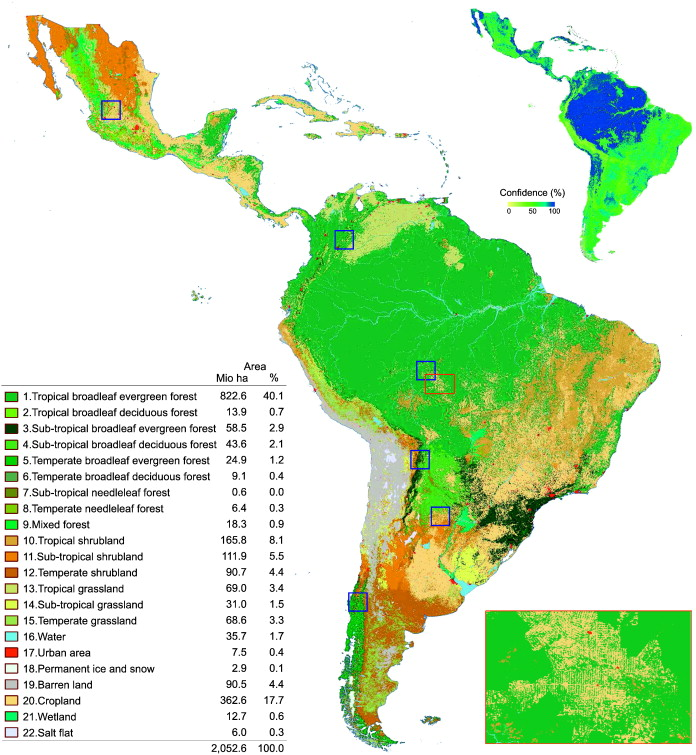 A land cover map of Latin America and the Caribbean in the framework