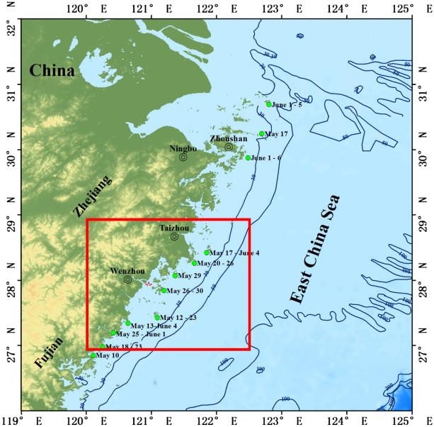 Diurnal changes of a harmful algal bloom in the East China Sea