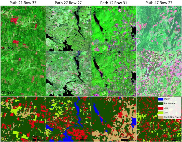 Visual Examination Of Forest Cover Change The Top And Middle Rows Of Each