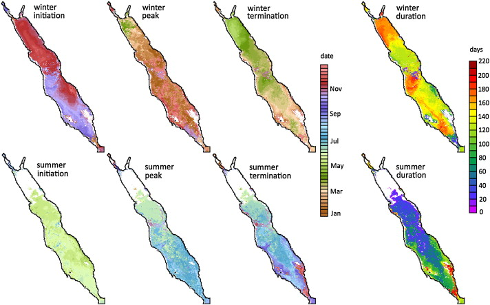 Phytoplankton Phenology Indices In Coral Reef Ecosystems