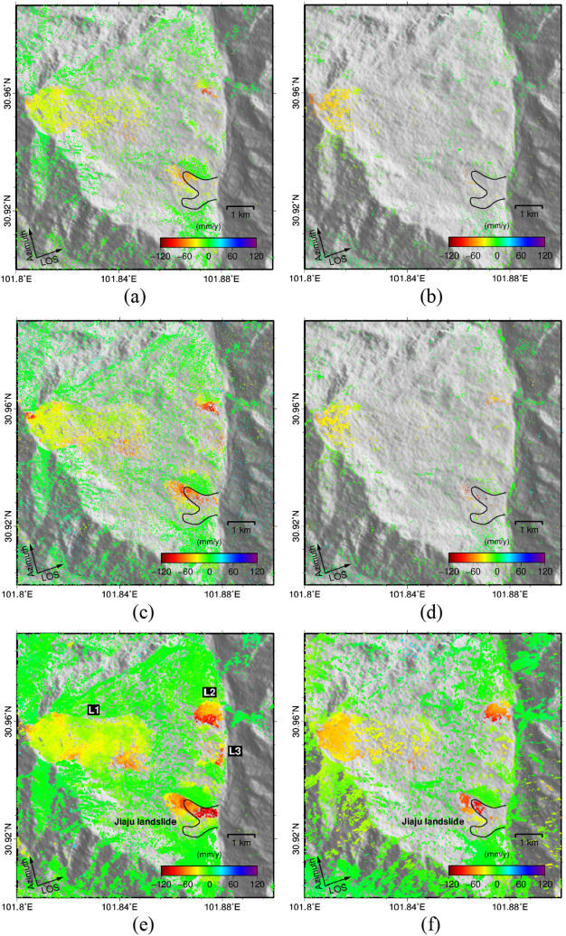 Mapping landslide surface displacements with time series SAR