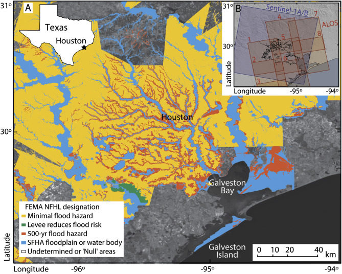 Land subsidence in Houston correlated with flooding from ...