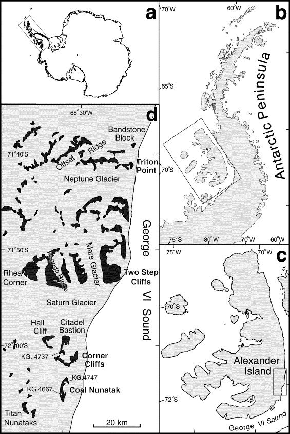 Early cretaceous gleicheniaceae and matoniaceae gleicheniales location map for alexander island antarctic peninsula antarctica sciox Images