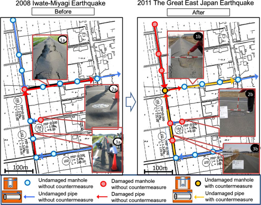Damage to sewage systems caused by the Great East Japan