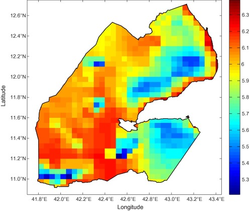 Satellitebased Assessment And In Situ Validation Of Solar - Republic of djibouti map