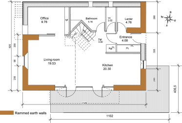 Energy evaluation of rammed earth walls using long term in ... on passive solar home floor plans, timber frame home floor plans, earthship home floor plans, adobe home floor plans, shipping container home floor plans, concrete home floor plans, cob home floor plans, cordwood home floor plans, earthbag home floor plans, straw bale home floor plans,