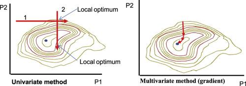 Optimization using the gradient and simplex methods
