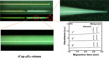 Rapid and sensitive tapered-capillary microextraction combined to on