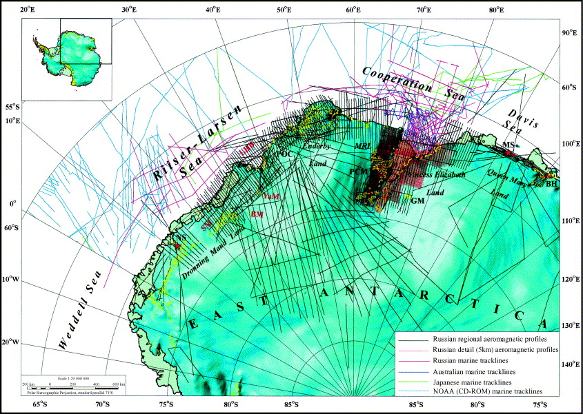 Magnetic Anomaly Map Of The World.The Composite Magnetic Anomaly Map Of The East Antarctic Sciencedirect