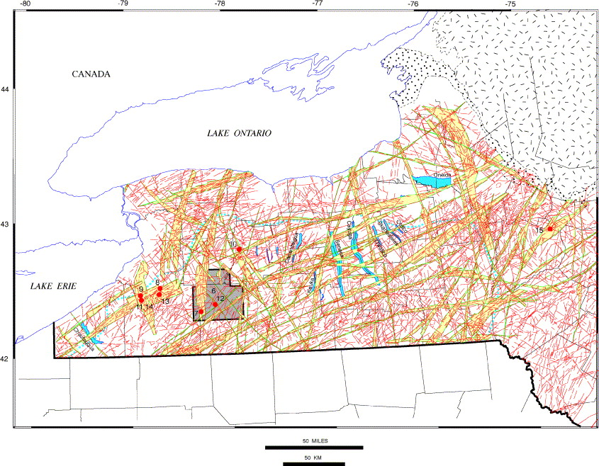 Basement faults and seismicity in the Appalachian Basin of New York