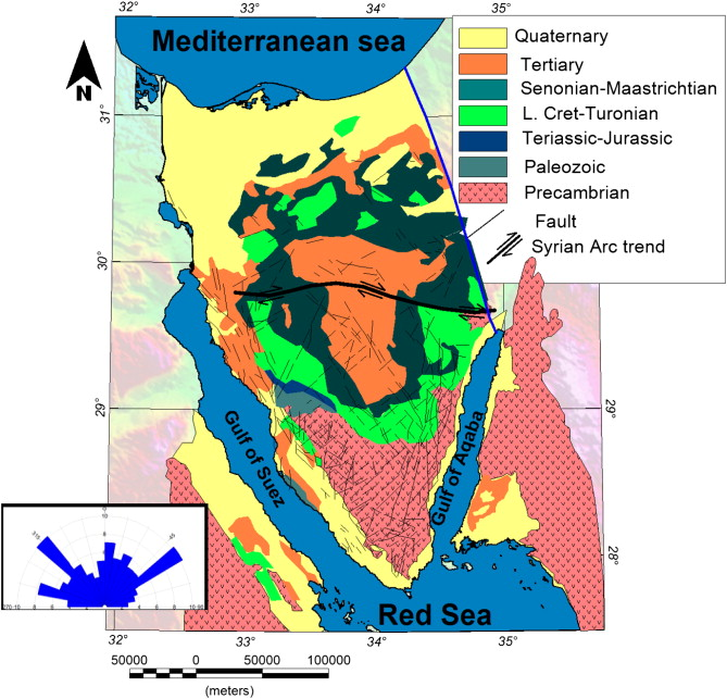 Curie depth map for Sinai Peninsula, Egypt deduced from the ...