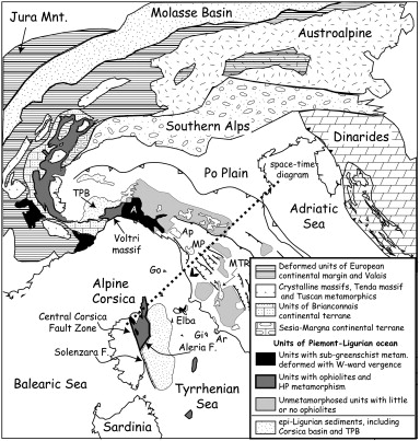 Plate motion and the evolution of Alpine Corsica and Northern