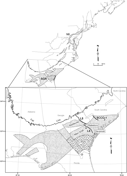 Insights Into The Mode Of The South Georgia Rift Extension In - Fault lines in georgia