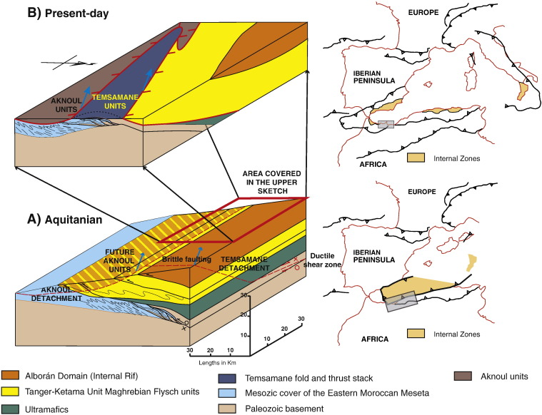 The structure of the Temsamane fold-and-thrust stack