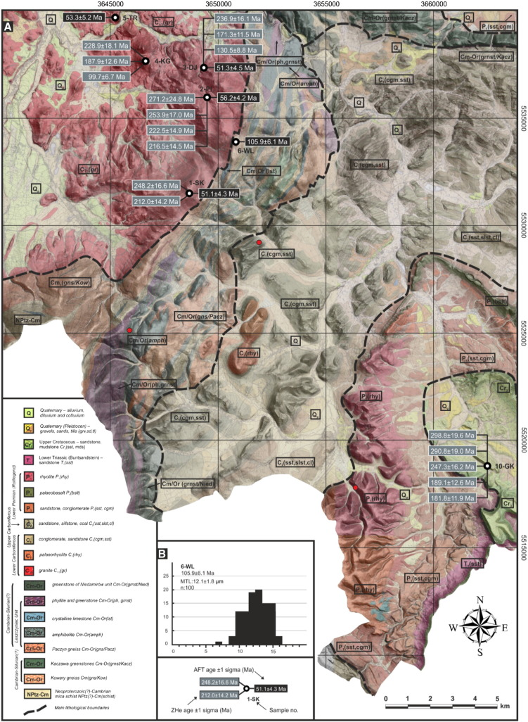 Post Variscan Cooling History Of The Central Western Sudetes Ne