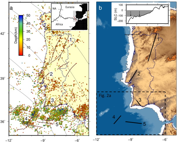 The Effect Of Sea Level Changes On Fault Reactivation Potential In - Portugal map sea