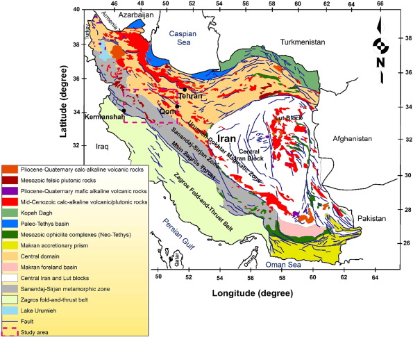 A combined magnetometry and gravity study across Zagros orogeny in