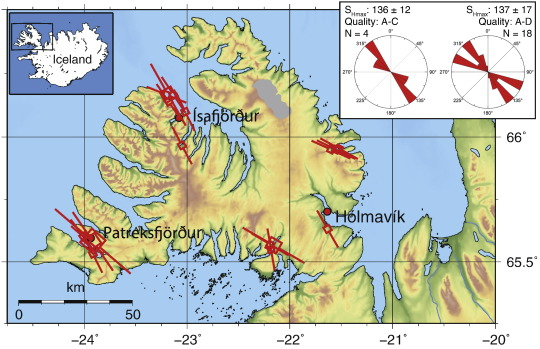 The Stress Pattern Of Iceland ScienceDirect - What is the latitude and longitude of iceland