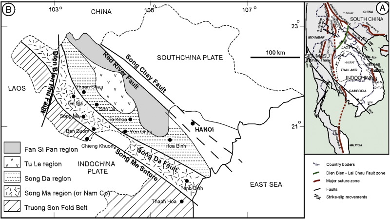 Dien Bien Phu Vietnam Map.Episodes Of Brittle Deformation Within The Dien Bien Phu Fault Zone