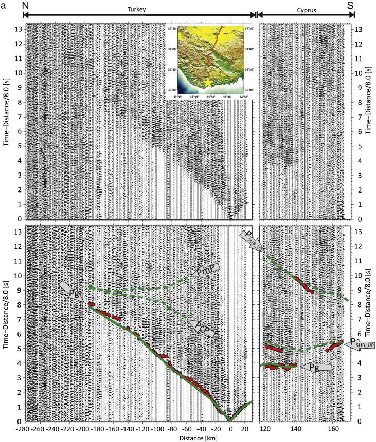 Crustal structure of the Eratosthenes Seamount, Cyprus and S