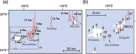 Source of high tsunamis along the southernmost Ryukyu trench ...