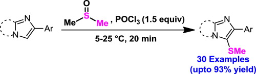 Dmsopocl3 A Reagent For Methylthiolation Of Imidazo12 A