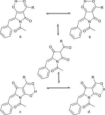 N-Acetyl-5-arylidenetetramic acids: synthesis, X-ray