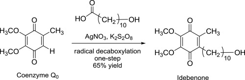 Single-step synthesis of idebenone from Coenzyme Q0 via free-radical alkylation under silver catalysis - ScienceDirect