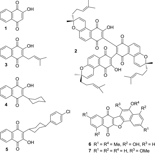 Styryl And Functionalized Aryl Derivatives Of Lawsone Through Metal