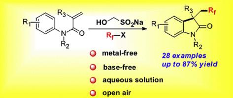 Metal-free trifluoroethylation of activated alkenes: rapid