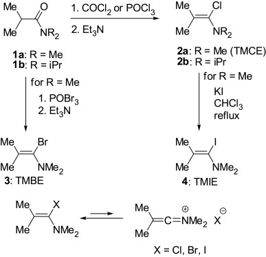 a mild method for the replacement of a hydroxyl group by halogen 1