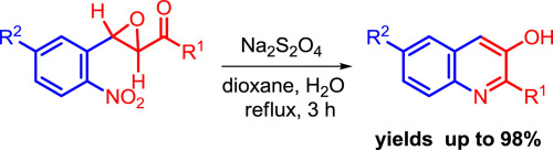 Simple Synthesis Of 3 Hydroxyquinolines Via Na2s2o4 Mediated Reductive Cyclization Of 2 2 Nitrophenyl Oxiran 1 Yl Aryl Methanones O Nitrobenzalacetophenone Oxides Sciencedirect