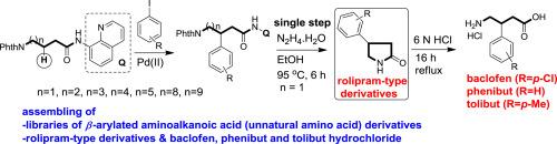 Assembling of medium/long chain-based β-arylated unnatural