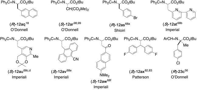 Benzophenone Schiff bases of glycine derivatives: Versatile starting