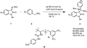 L-tert-Leucine derived urea-ammonium salts: Efficient bifunctional