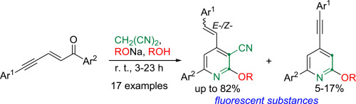 Multicomponent reaction of conjugated enynones with malononitrile