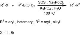 Aerobic ligand-free Suzuki coupling catalyzed by in situ