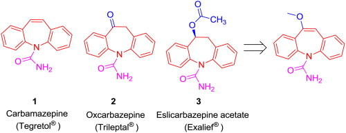 Image result for oxcarbazepine synthesis shodhganga