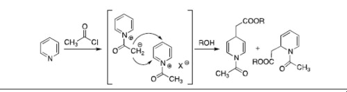 An unexpected reaction of pyridine with acetyl chloride to