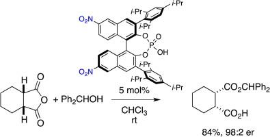 Desymmetrization of acid anhydride with asymmetric