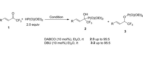 Base-controlled reaction of α,β-unsaturated trifluoromethyl ketone