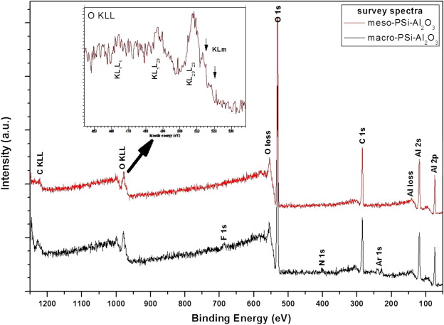 Structural and XPS characterization of ALD Al2O3 coated porous