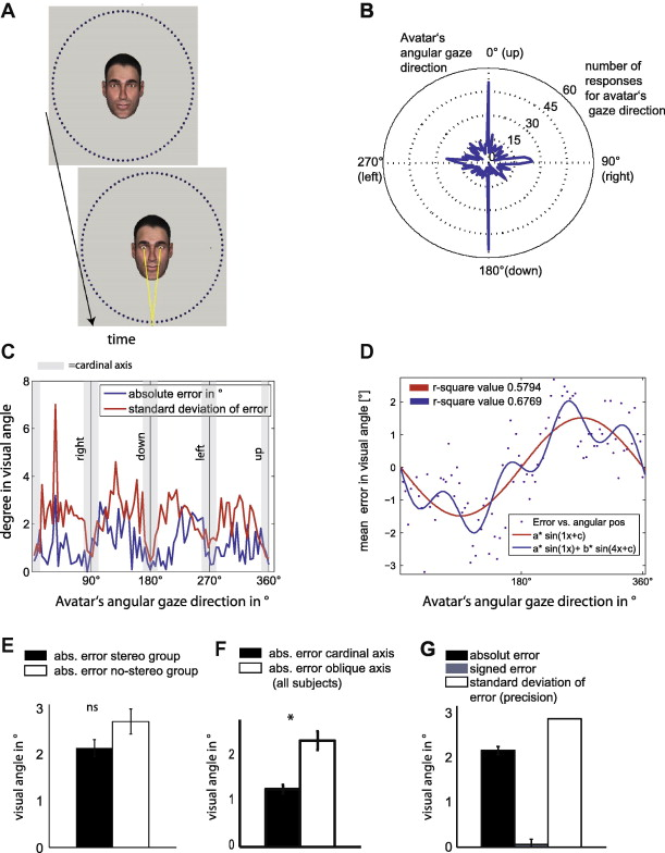 Assessing the precision of gaze following using a