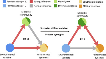 Stepwise pH control to promote synergy of chemical and