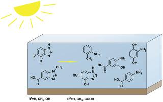 Sunlight photolysis of benzotriazoles – Identification of