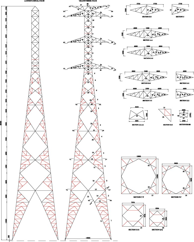 Optimum design of steel lattice transmission line towers